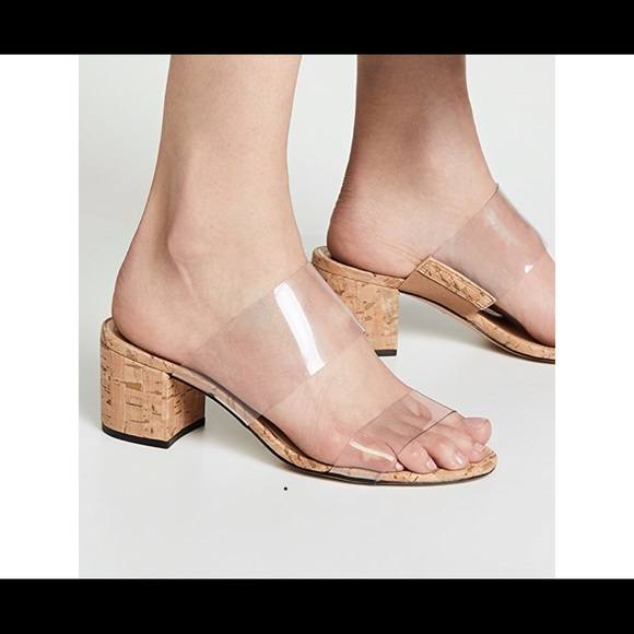 479c7657cde Schultz Clear and Cork Victorie Sandal